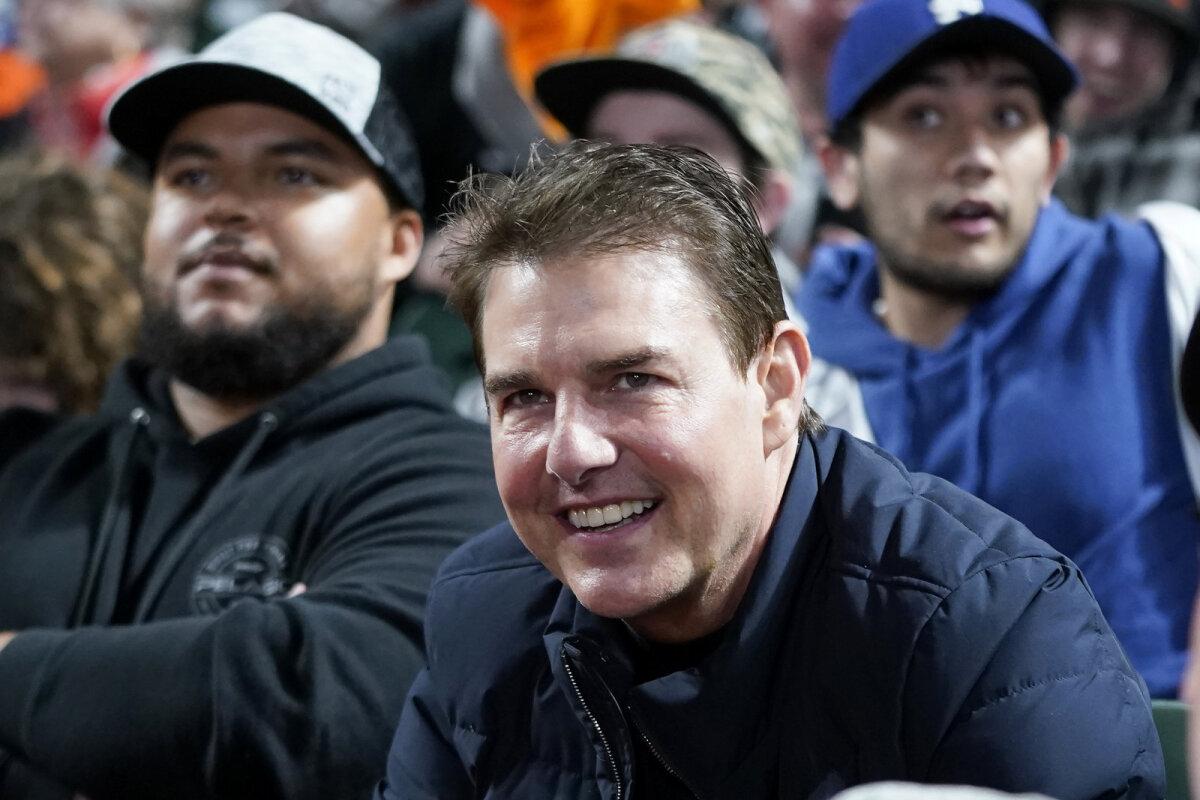 Tom Cruise pühapäeval pesapallimängul.