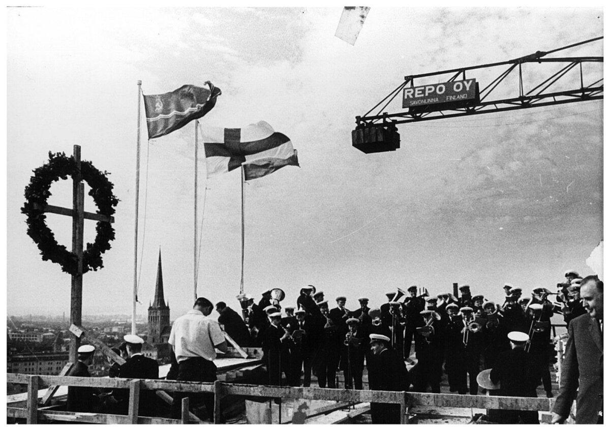 Sarikapidu 2. juulil 1970. aastal. Repo oli hoone kõrguse kätte saanud.