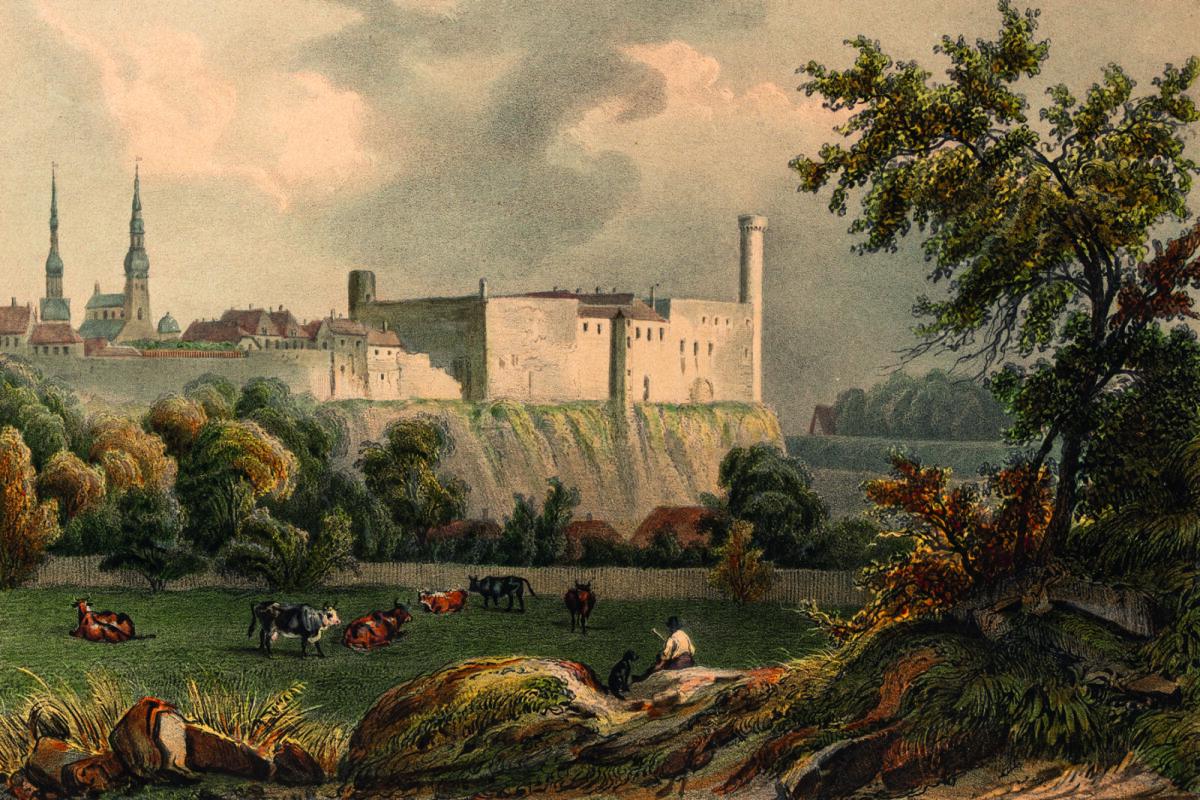 Vaade Toompea lossi tagaküljele