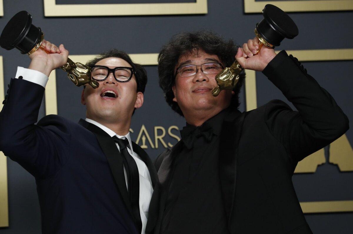 Han Jin Won ja Bong Joon Ho Oscaritel 2020