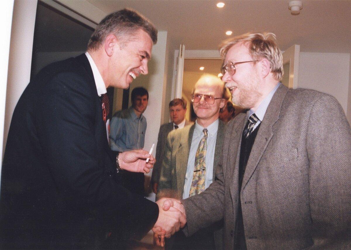 Robert Lepikson ja Mart Laar