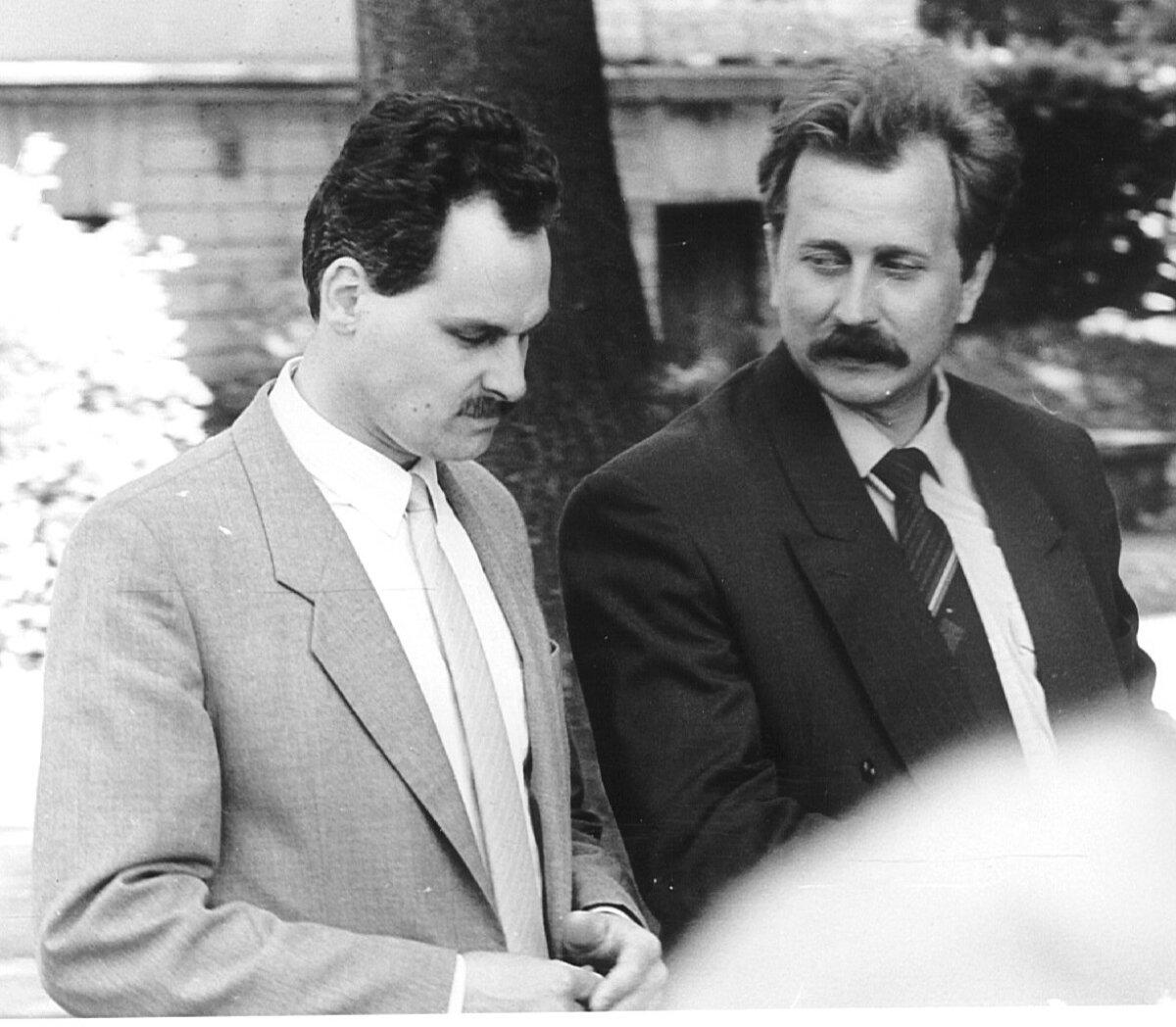 MEHED VARJUS II: Jaan Toots ja Kalle Klandorf suvel 1992