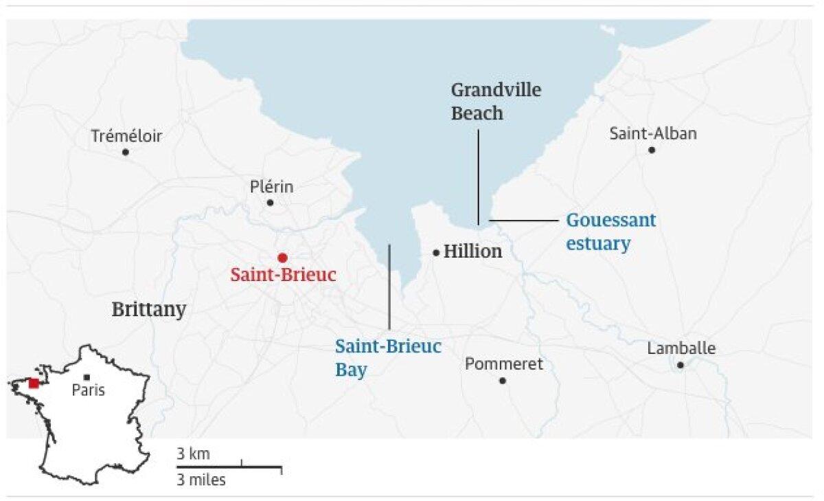 Eluohtlike randadega piirkond Bretagne maakonnas Prantsusmaal