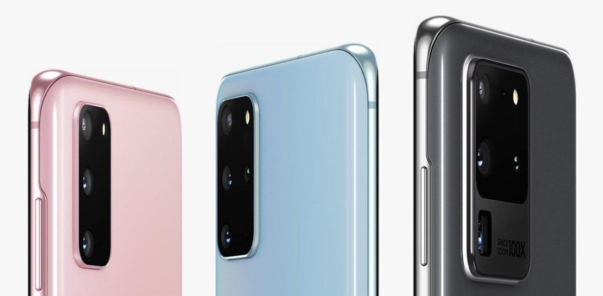 Samsung Galaxy S20 kolm varianti: (vasakult) S20, S20+ ja S20 Ultra (tootja foto)