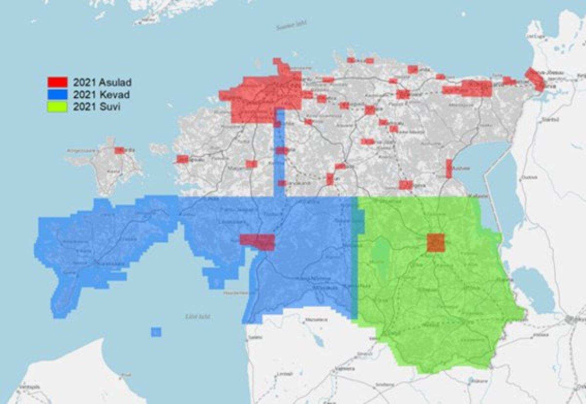 2021. aasta planeeritud lennualad (foto: Maa-amet)