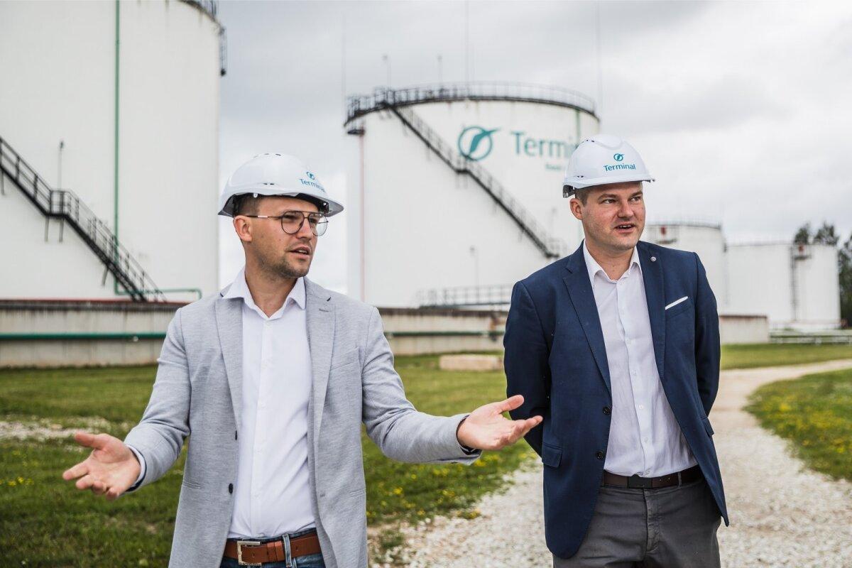 AS-i Tartu Terminal juhatuse liikmed Raido (vasakul) ja Rauno Raudsepp