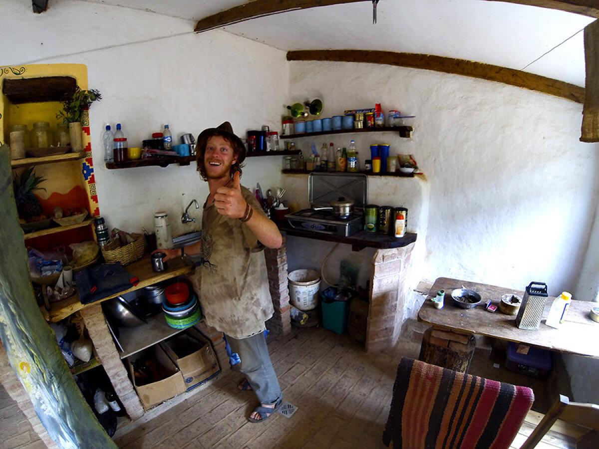 El Meson, (taimetoidu) köök.
