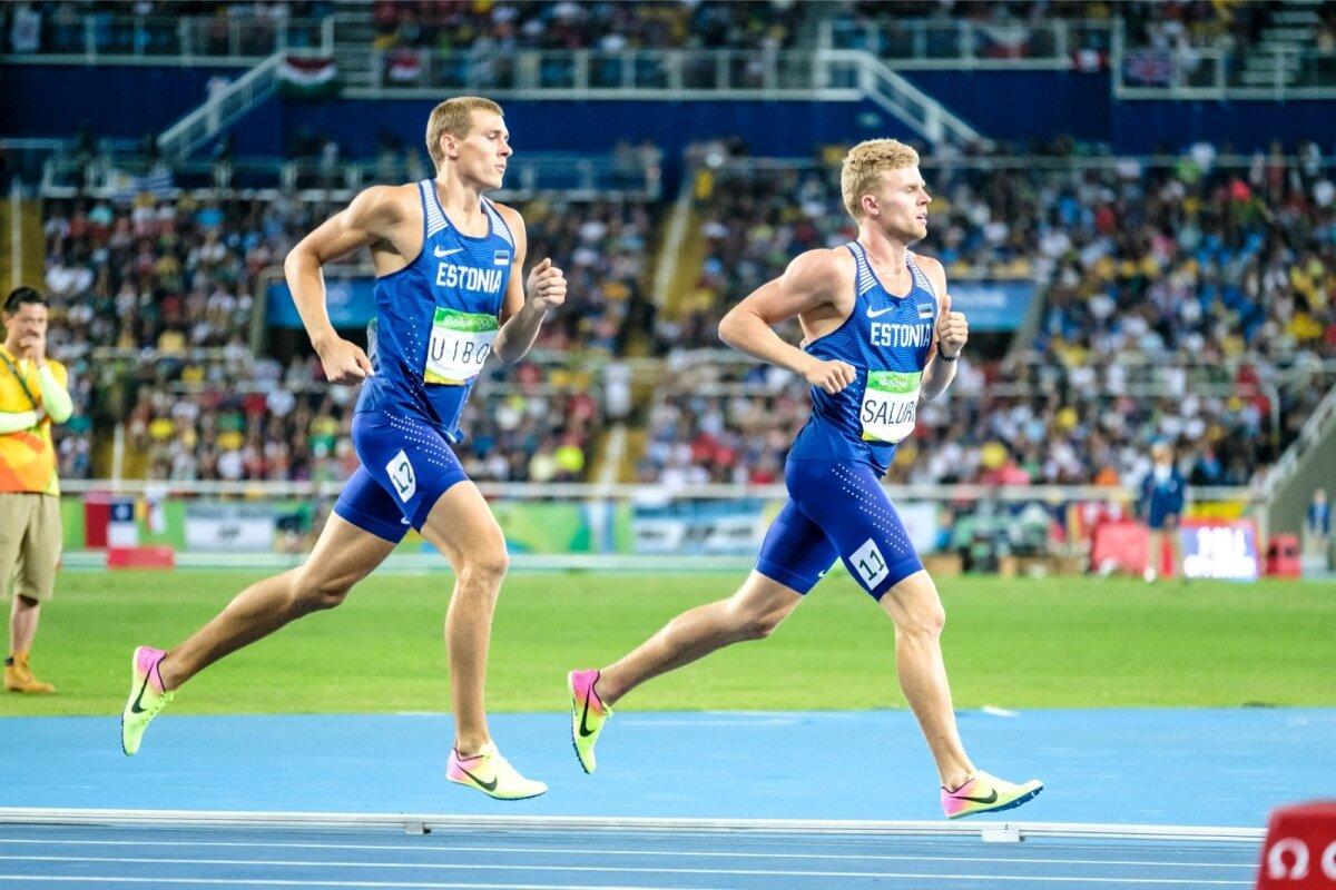 Karl Robert Saluri Rio olümpial 1500 meetri jooksus koos hea sõbra Maicel Uiboga.