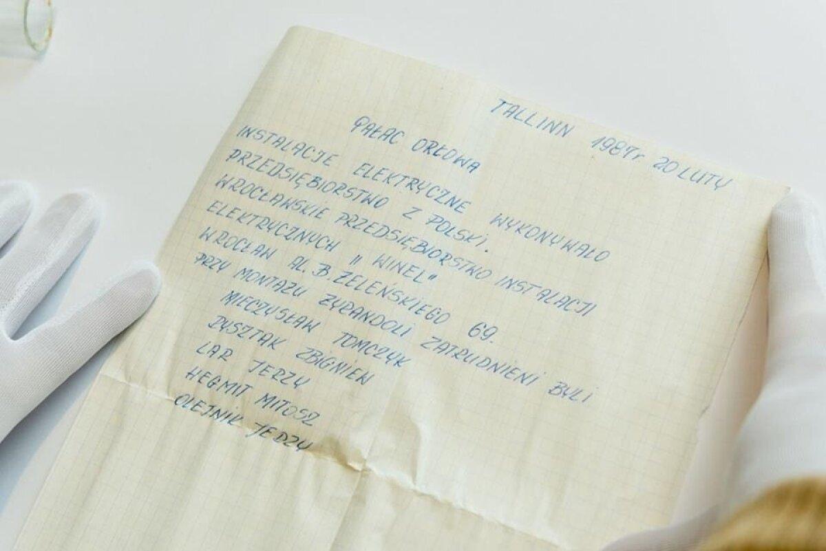 Poola elektrikute jäetud kiri