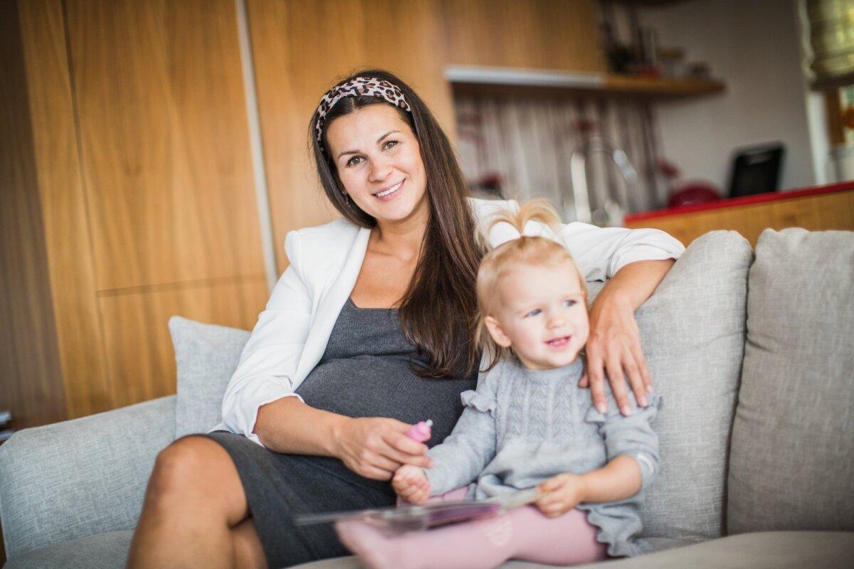Kristiina Koort tütrega