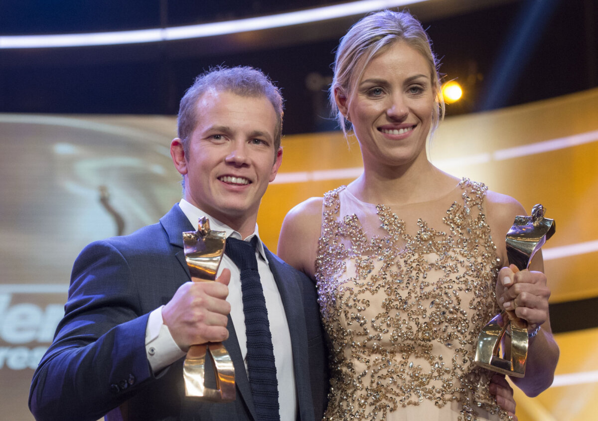 Saksamaa parimad sportlased Fabian Hambüchen ja Angelique Kerber.