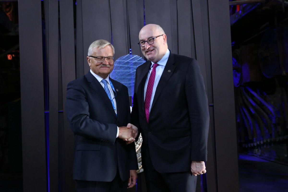 Maaeluminister Tarmo Tamm ja Euroopa Komisjoni põllumajandusvolinik Phil Hogan.