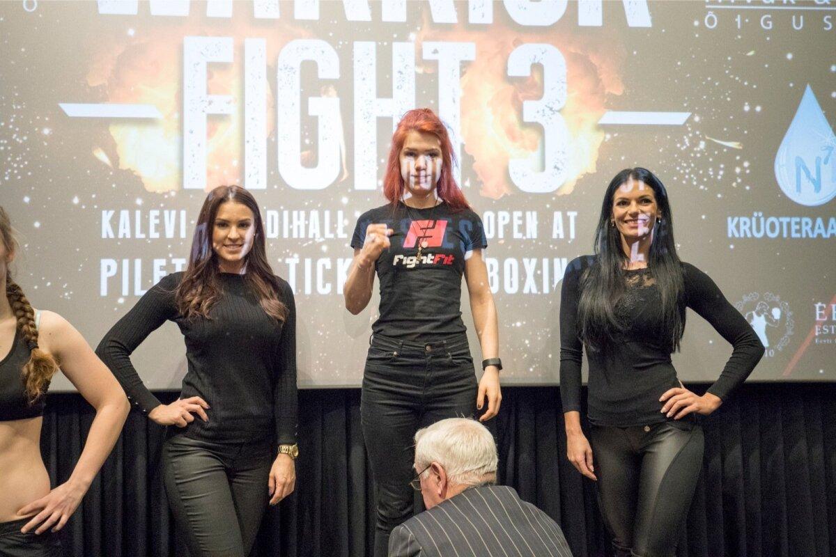 Astrid Johanna Grents Warrior Fight 3 kaalumisel.