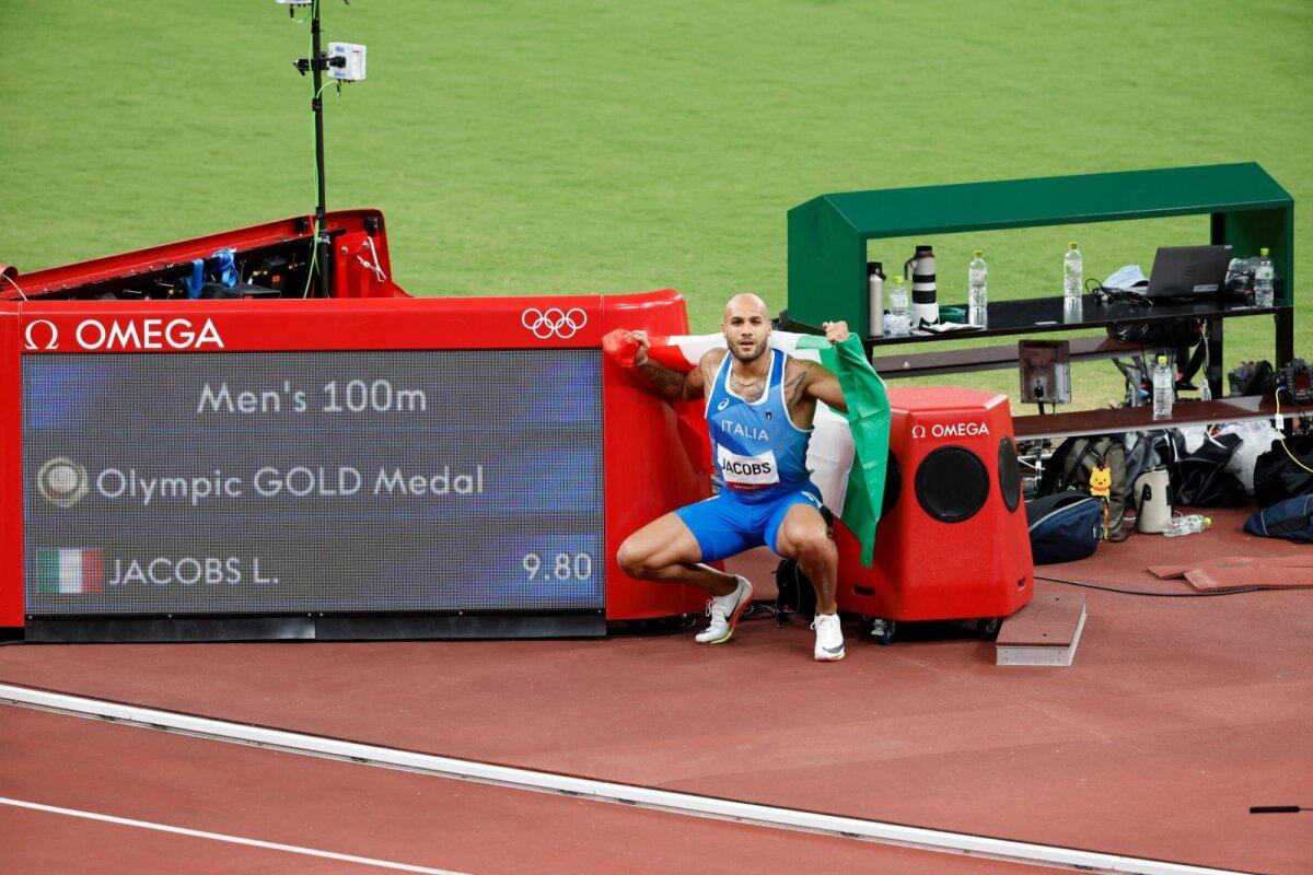 Marcell Jacobs tuli üllatuslikult olümpiavõitjaks.