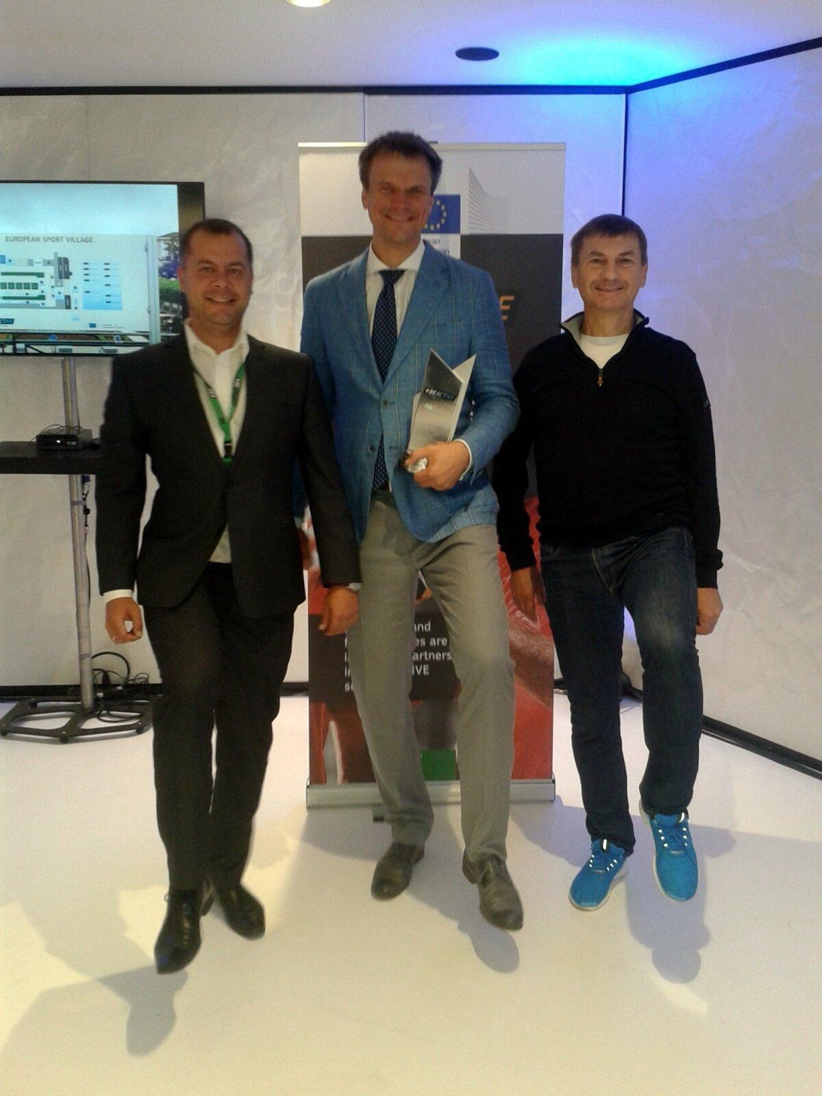Liikumisharrastuse edendamise nimel Eestis tehakse tegusid ka Brüsselis: Peeter Lusmägi, Erik Pallase ja Andrus Ansip
