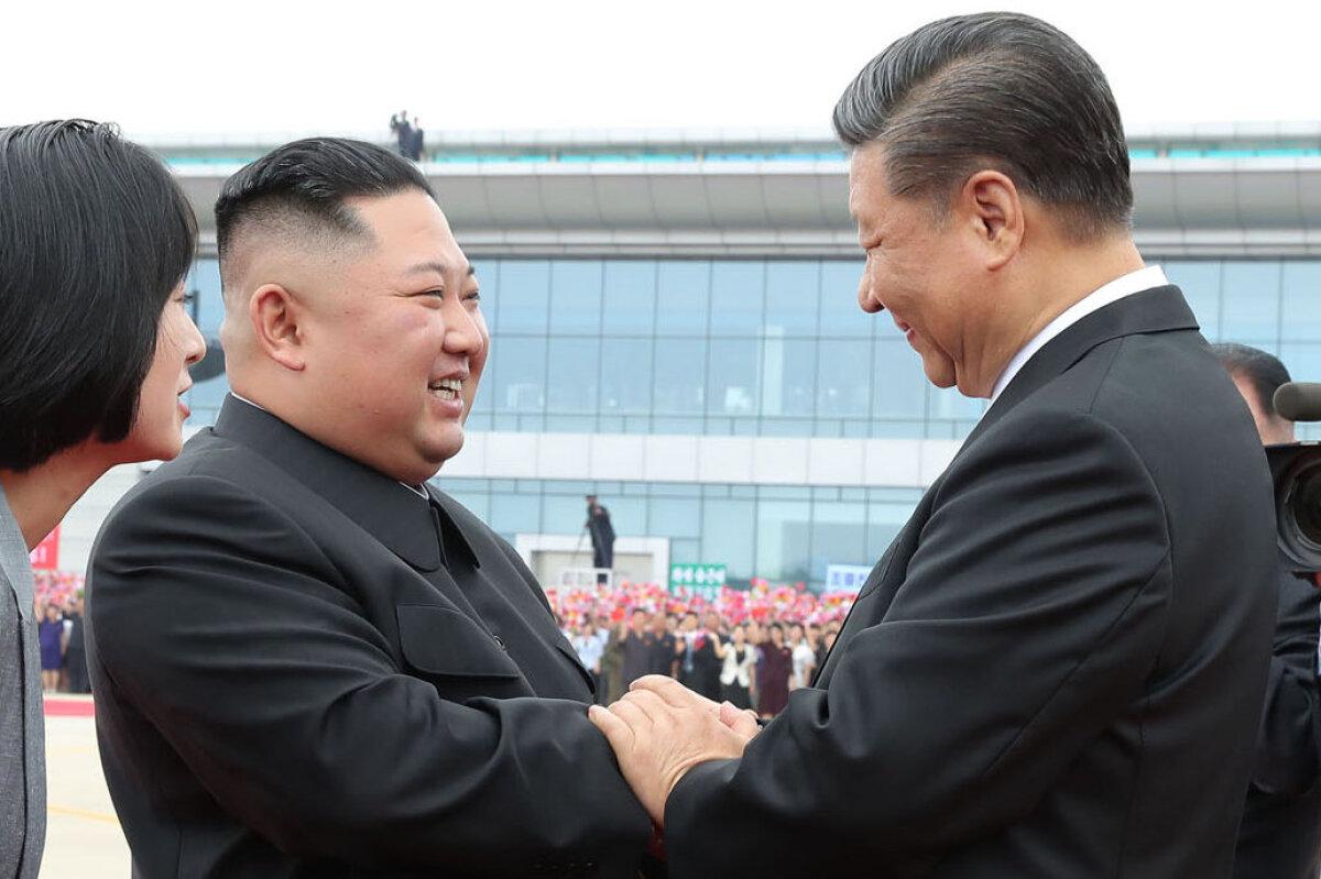 Kim ja Xi 2019. aastal Pyongyangis
