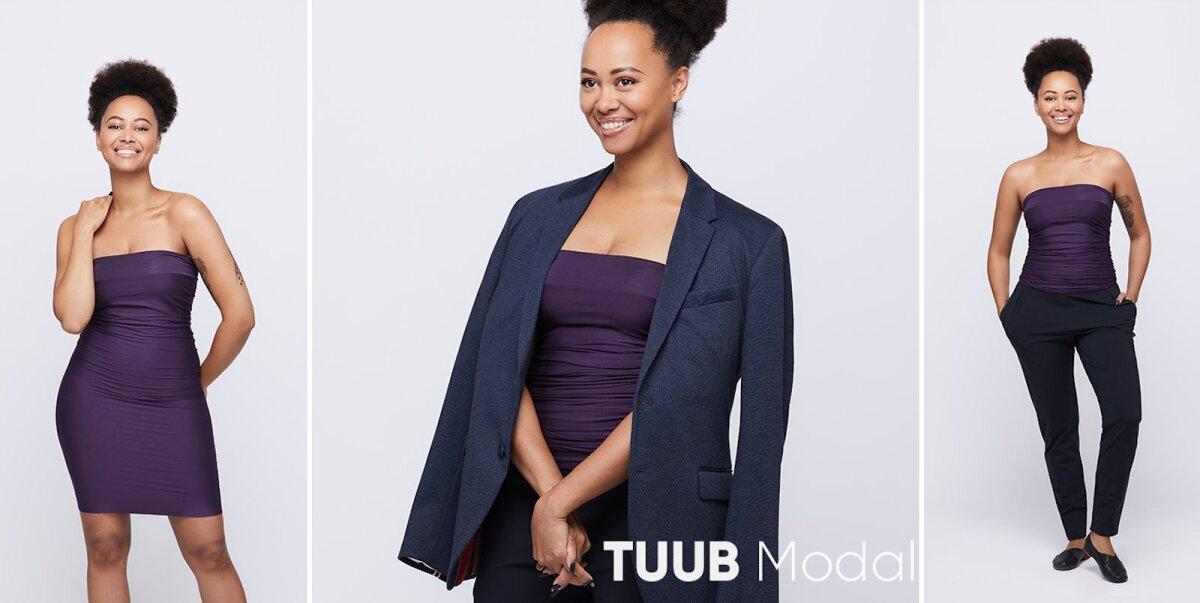 Džässlaulja Sandra kannab <em>modal</em>-kangast TUUBi ja uusi pükse EVERYWEAR.