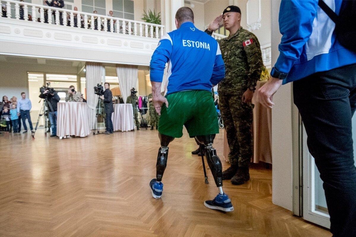 Eesti Võitmatute mängude (Invictus Games) võistkond, vastuvõtt Tallinna lennujaamas
