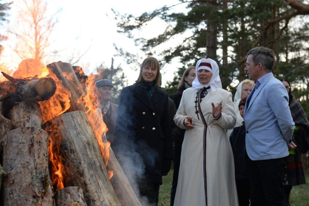 Ingrid Kala ja Raul Kudre on sportlikud setod ja leiavad presidendiga kiiresti ühise keele.