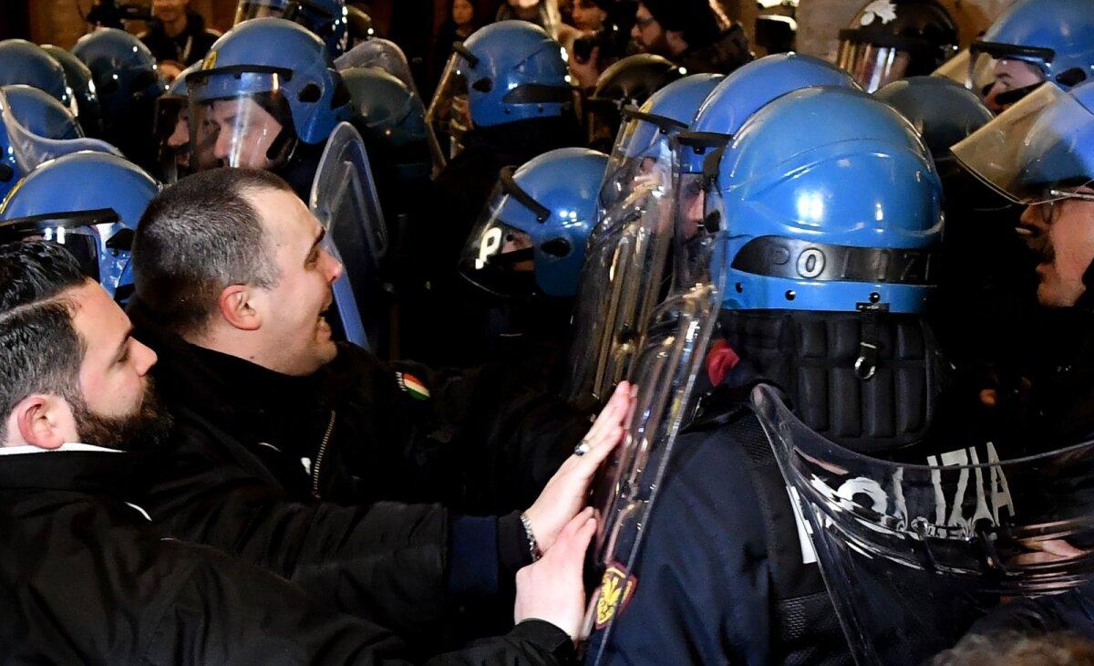 8. veebruaril toimusid kokkupõrked ka Bolognas.