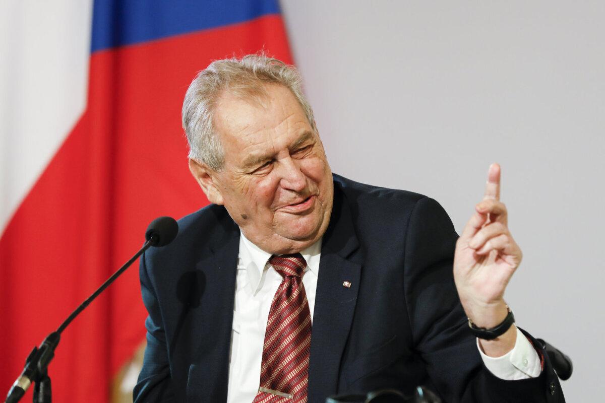 Tšehhi riigipea Miloš Zeman.