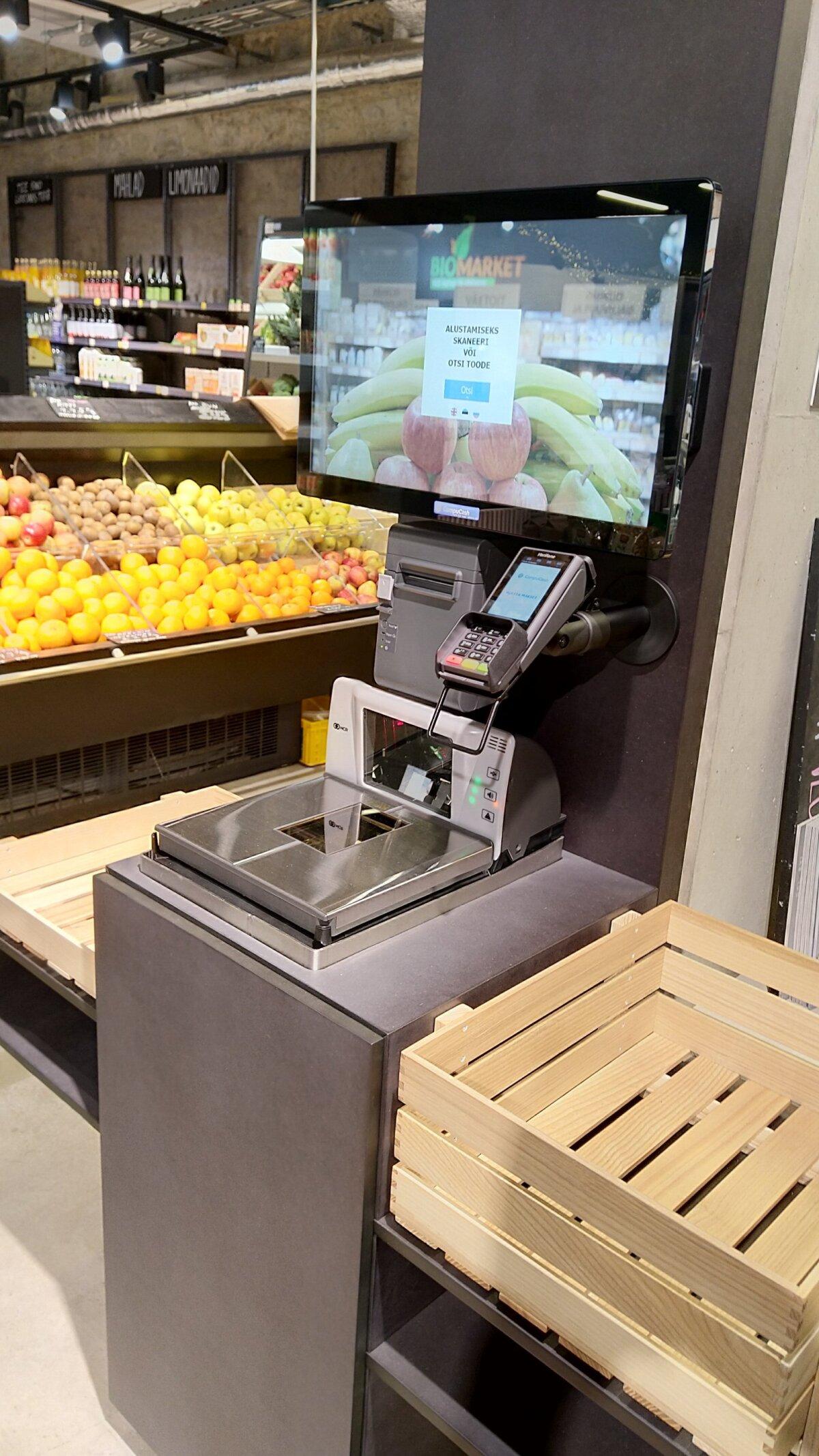 CompuCashi iseteeninduskassa kaupluses.