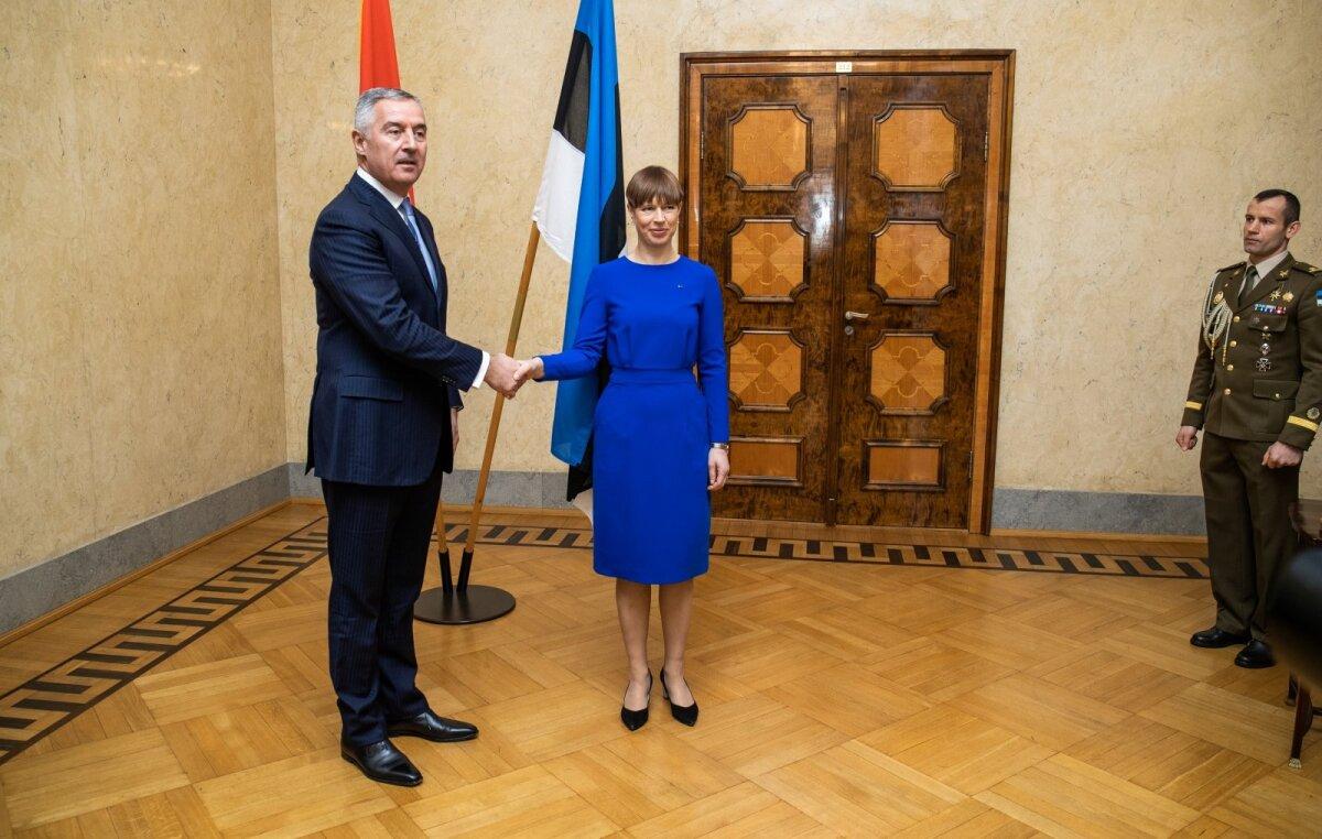Montenegro president Eestis