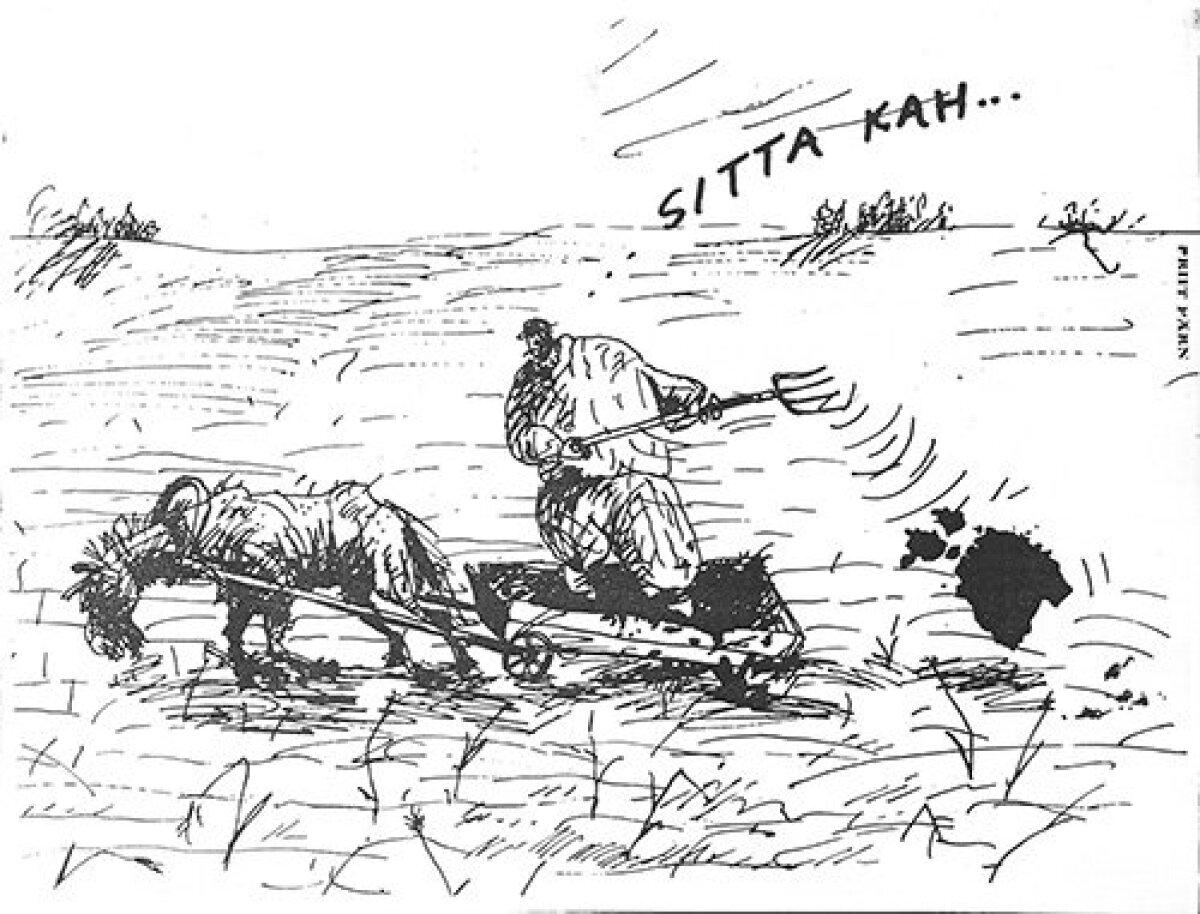 Priit Pärna klassikuks saanud karikatuur fosforiidisõja ajast.