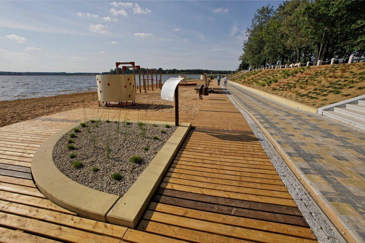 Tamula järve rand.