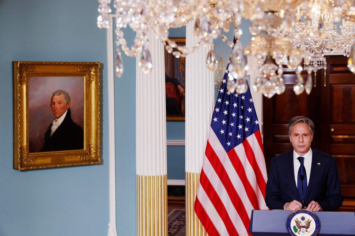 USA välisminister Anthony Blinken eile Washingtonis.