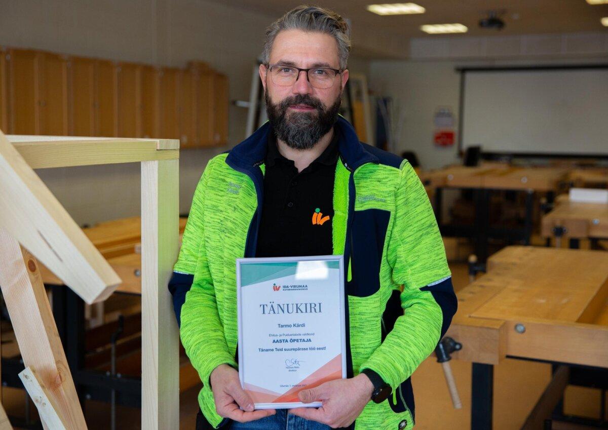 2020. aasta Ida-Virumaa aasta kutseõpetaja Tarmo Kärdi