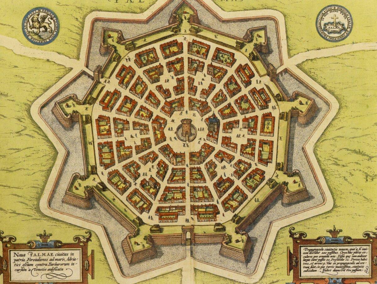 Linna plaan umbes aastast 1600.