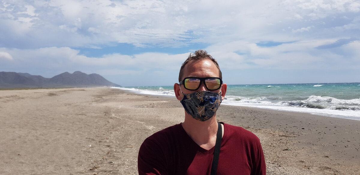 Andre Põlm Hispaanias raamatut kirjutamas (foto: erakogu)