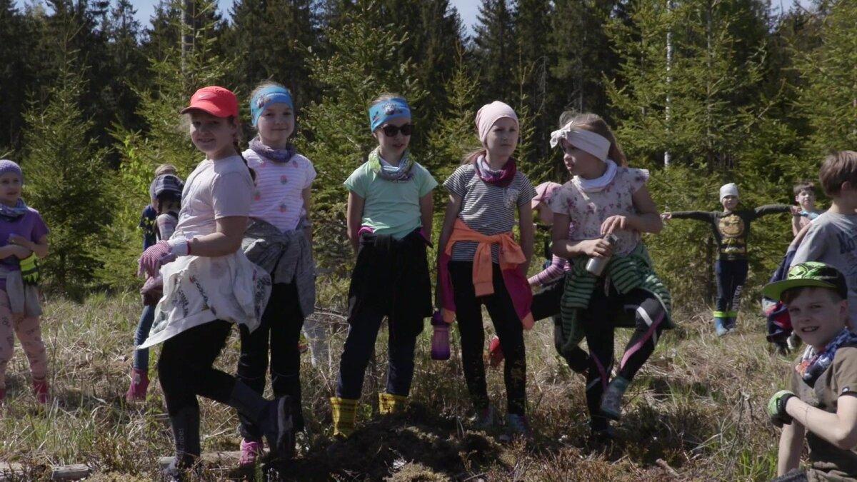 Siin on näha 9aastased lapsed ja 9aastane kuusik. Nemad ongi meie loo kliimakangelased.