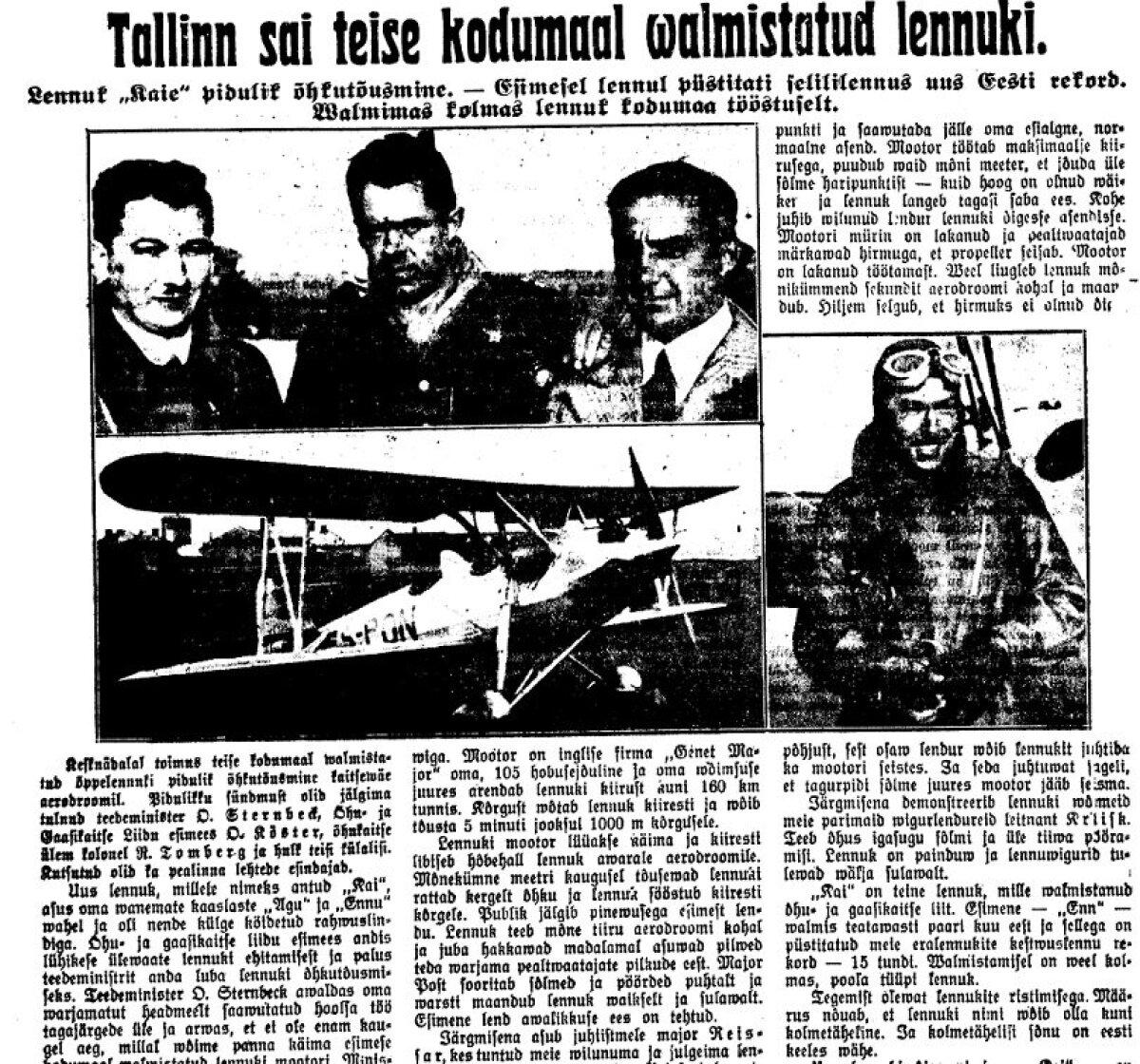 Päewaleht, 30.08. 1934