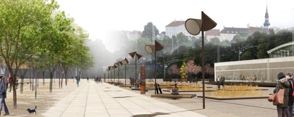Согласно проекту, оформление площади будет простым и функциональным, так как речь идет об активном логистическом узле.