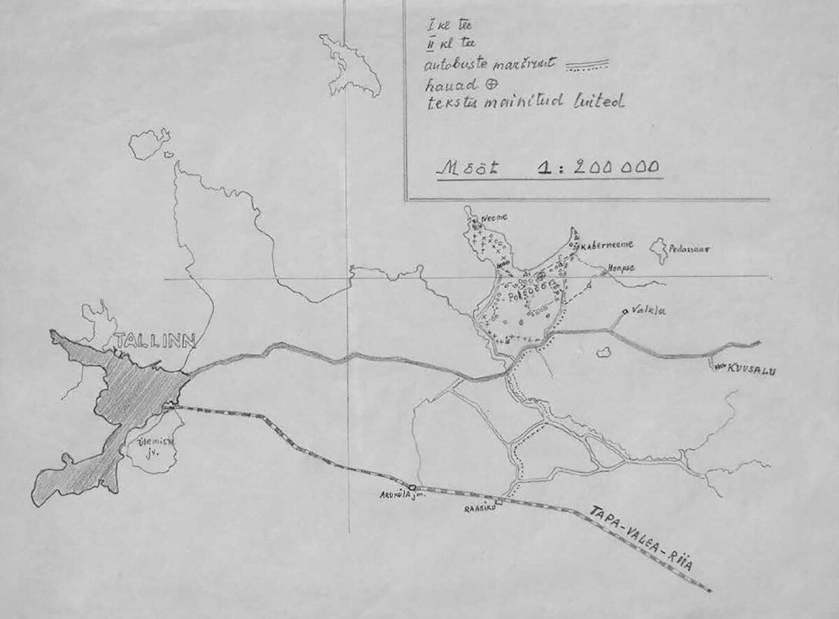 Записи Яана Кросса о событиях в Калеви-Лийва были отправлены в 1944 году в Финляндию