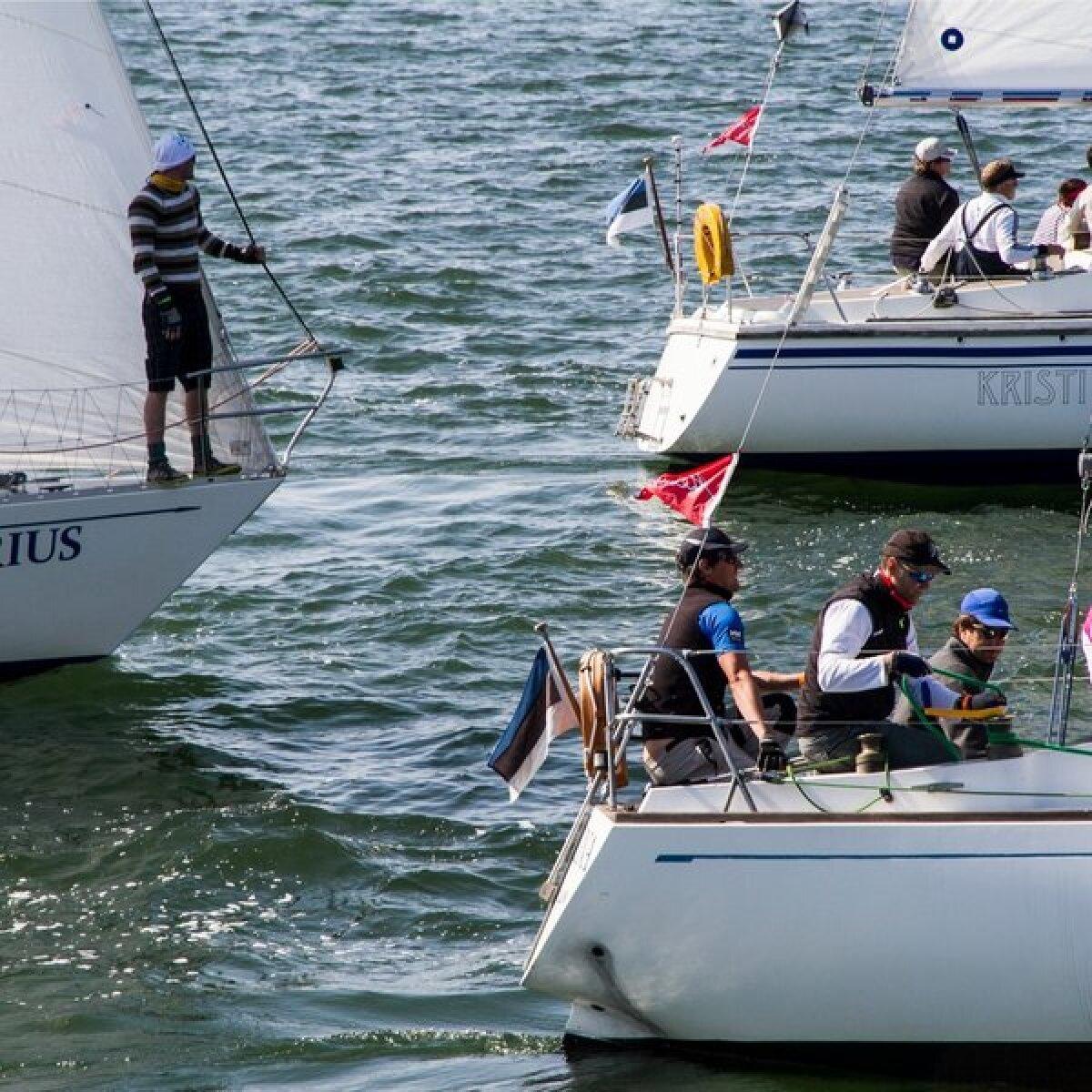 Muhu väina regati start Heltermaa-Kuivastu 15.07.2013