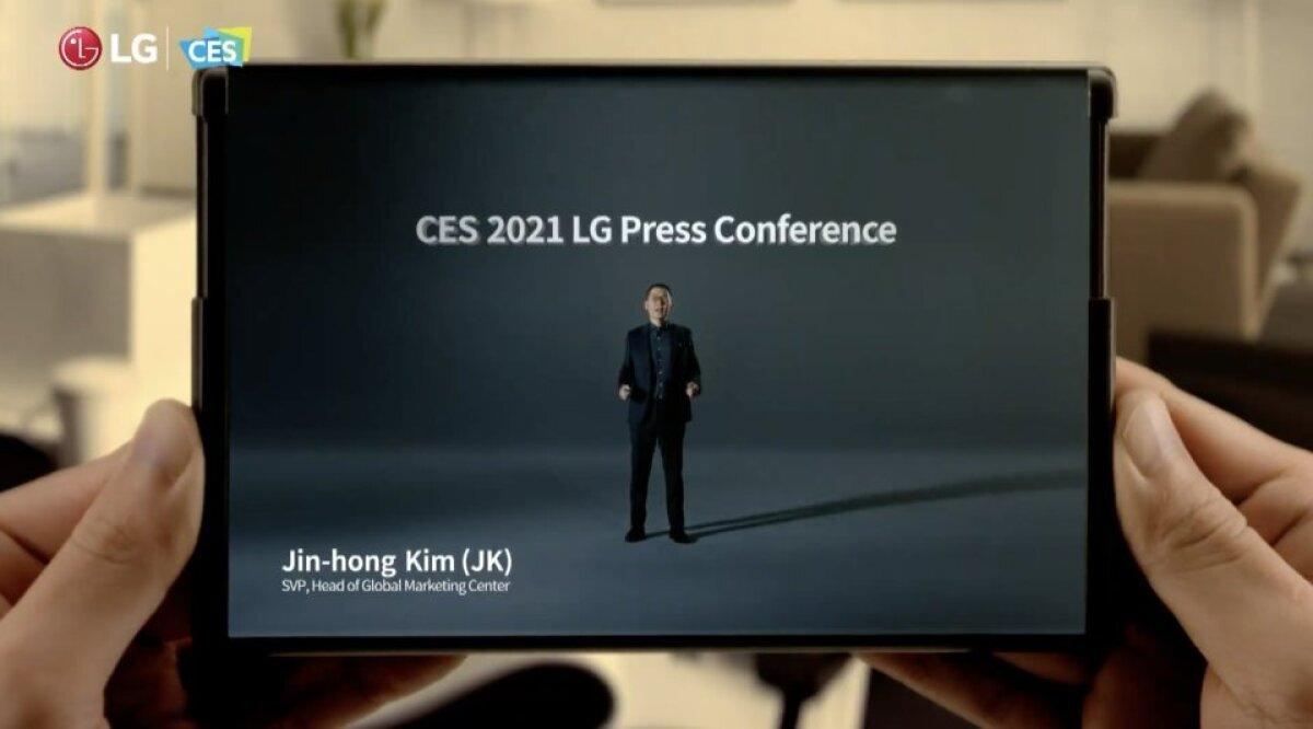 LG lahtirullitava ekraaniga telefon (Tootja foto)