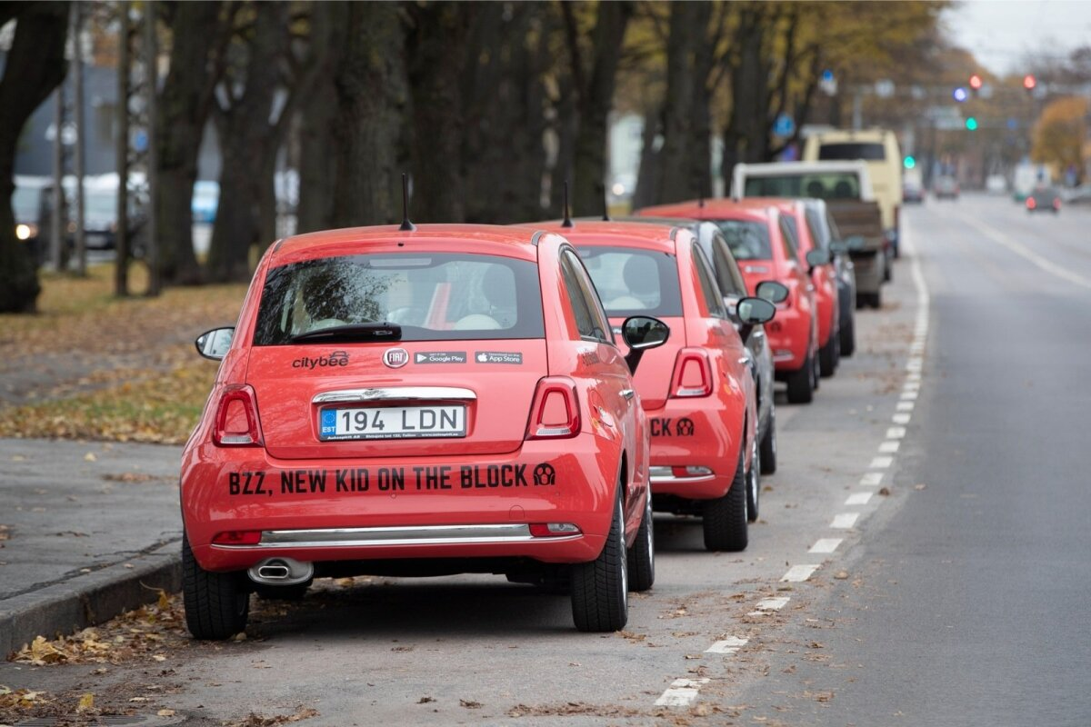 Citybee autod Tallinnas 16.10.2019