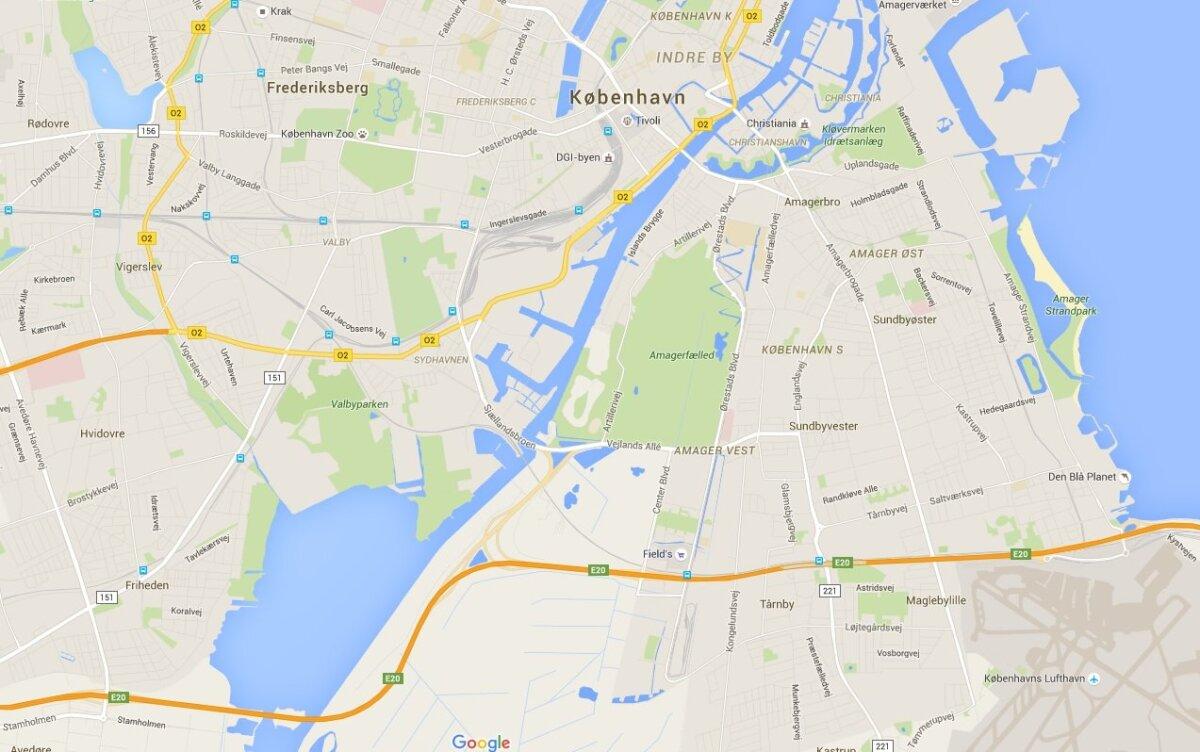 Kopenhaageni sillad Amageri saarele.
