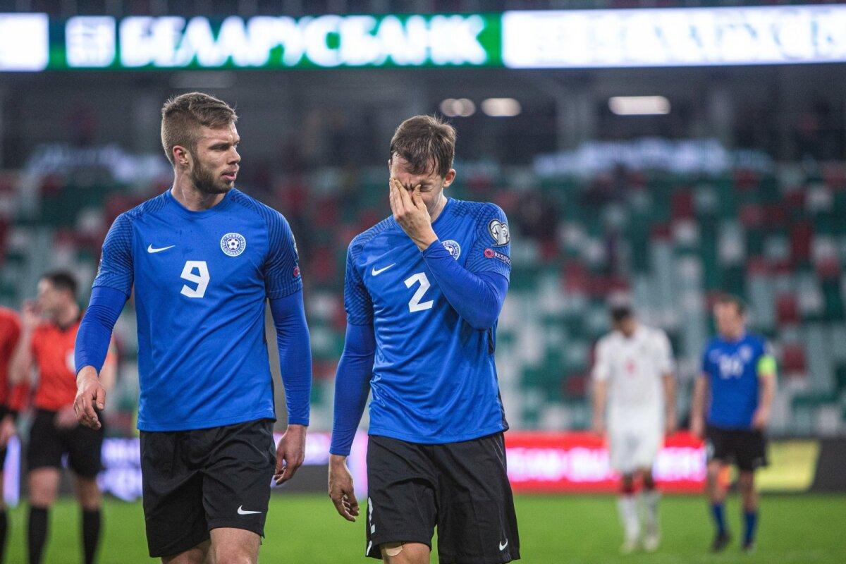 Robert Kirss ja Märten Kuusk pärast Eesti - Valgevene valikmängu Minskis.