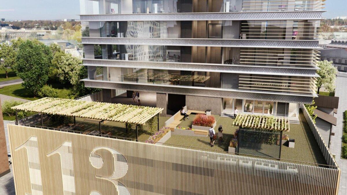 Büroo113 rohelise mõtteviisi kõrghoonesse kolib ka maja projekteerinud Pluss arhitektuuribüroo