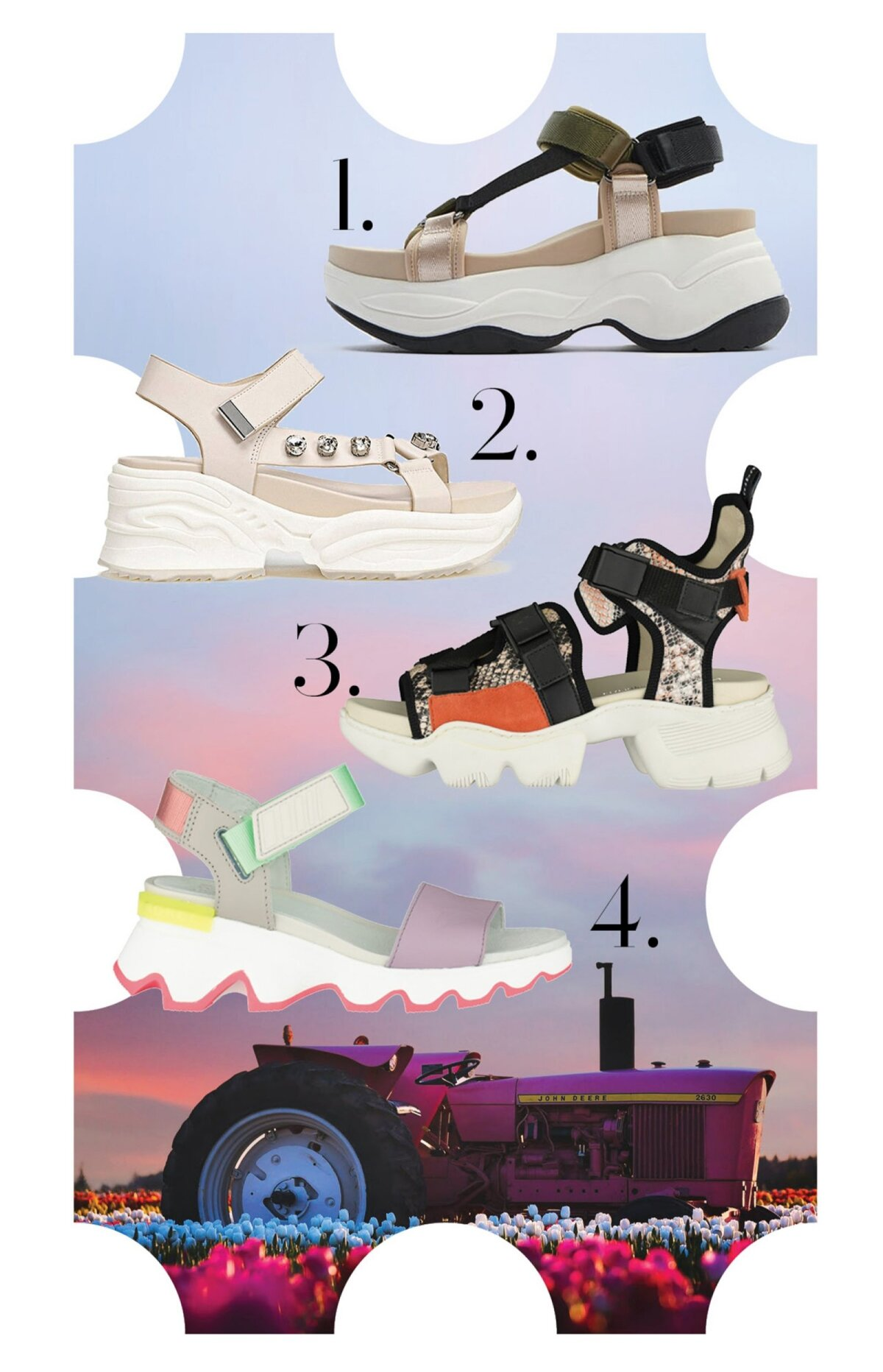 Roomiktallaga sandaalid