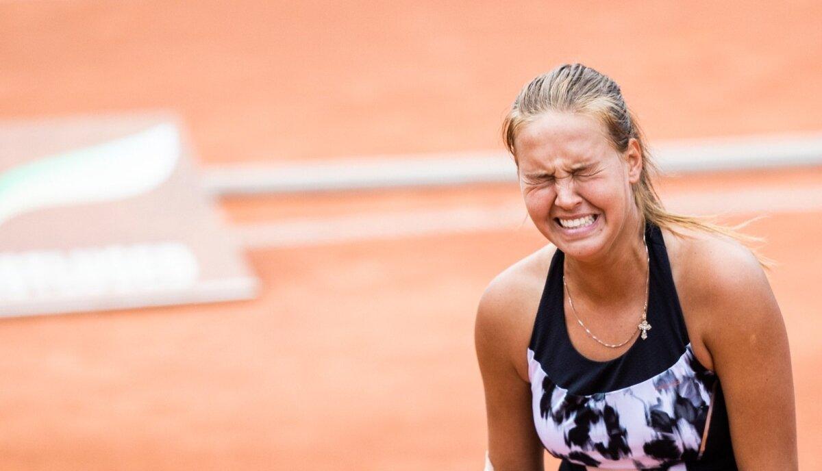 Valeria Gorlatš võitles Eestit tennise meistrivõistluste finaalis valuga ja kaotas Katriin Saarele.