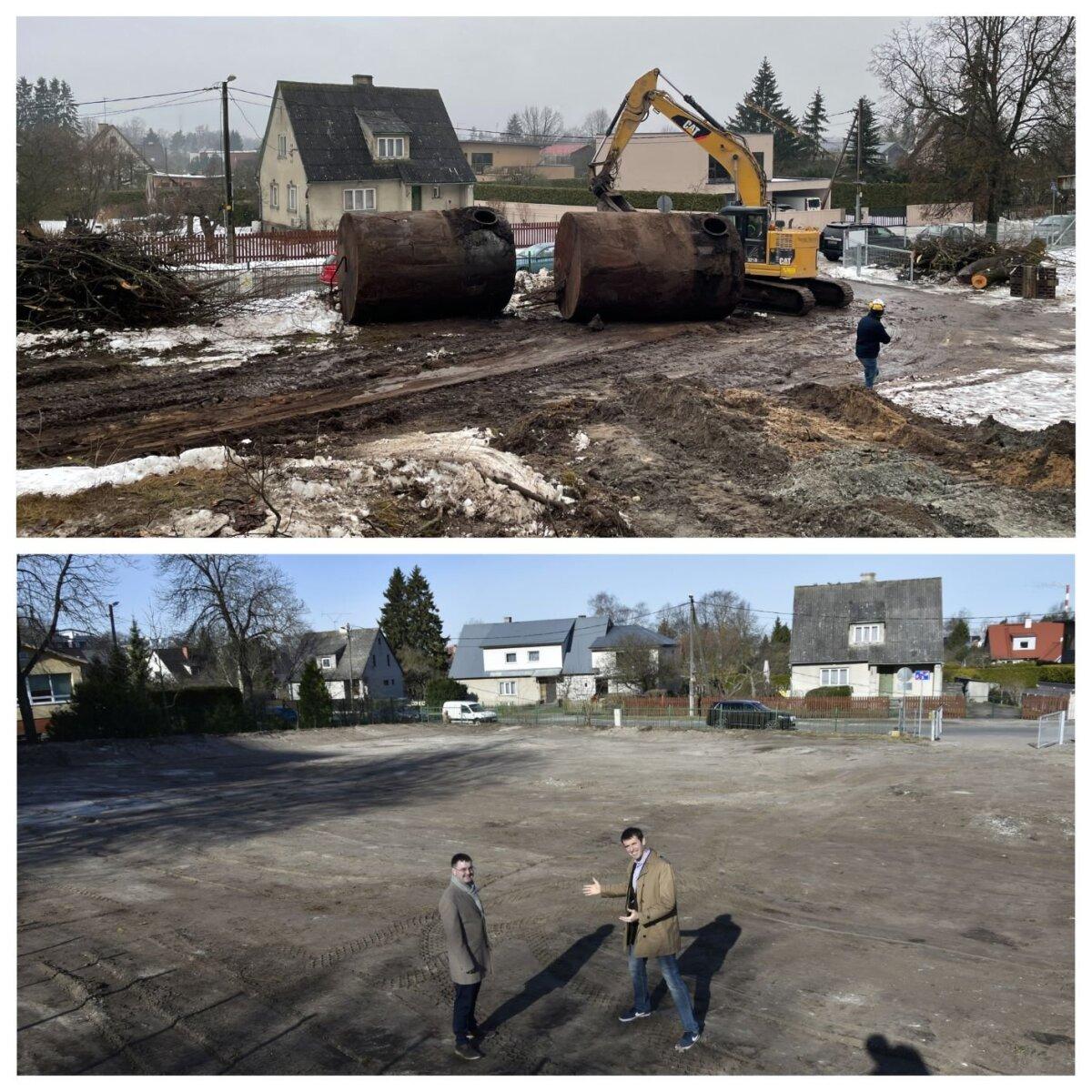 До и после работ по сносу