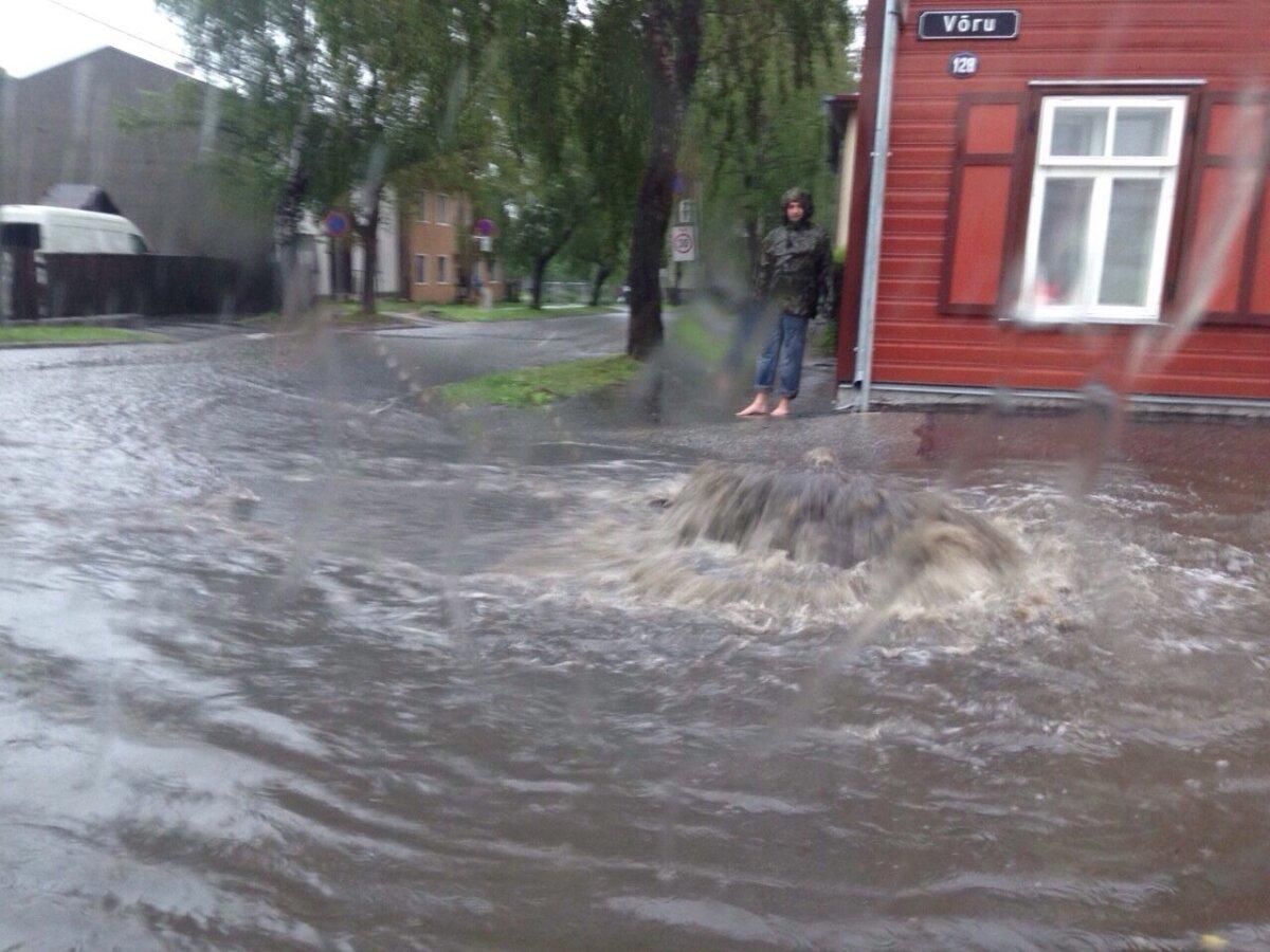 """Tartu linna Võru tänava """"purskaev"""""""