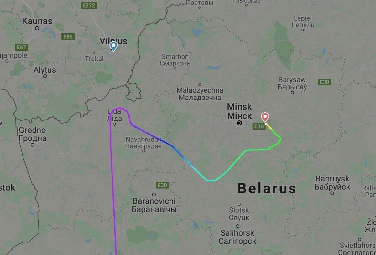 Lennuki teekond näitab, et Vilnius oli tõesti kõvasti lähemal.