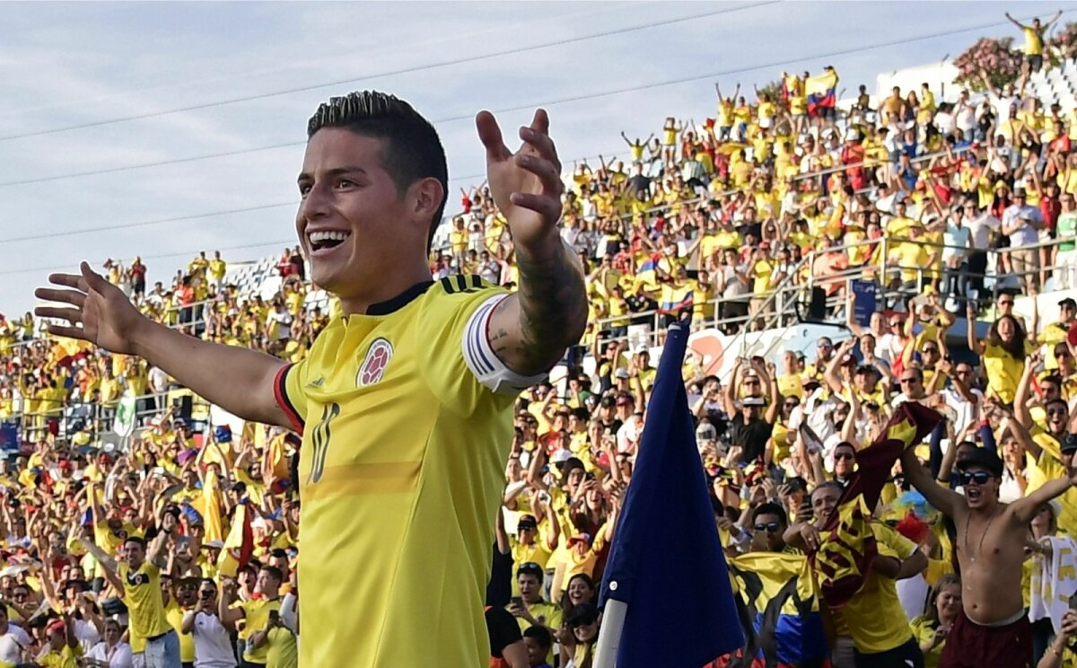 Kolumbia koondise praegune suurim staar James Rodriguez.