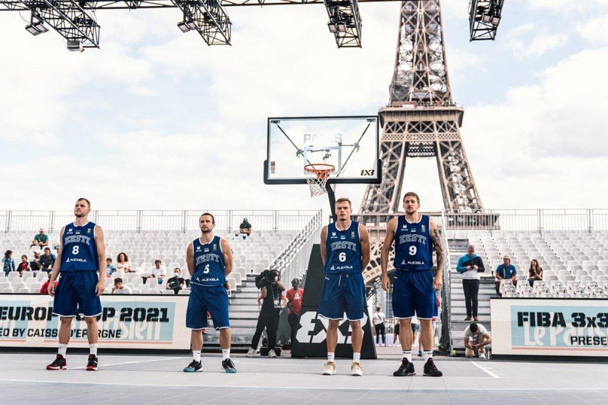 Eesti koondis Pariisi EM-il.